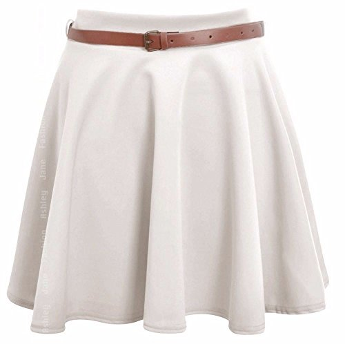 Comfiestyle - Jupe - Culotte - Femme Blanc