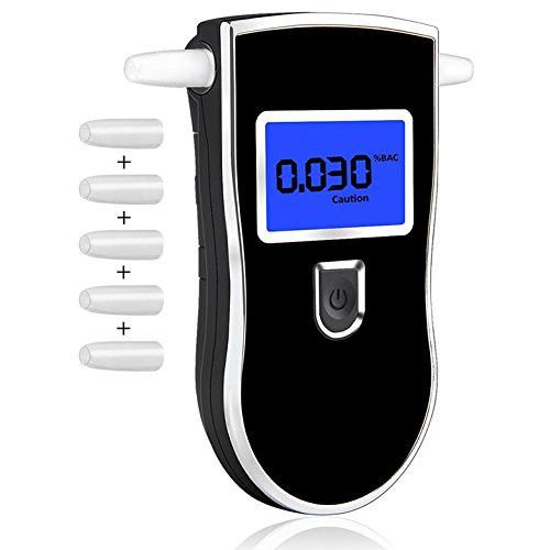 Breathalyzer, Breath Alcohol Tester,Professional Digital Breathalyzer, Portable Breath Alcohol Tester with 5 Mouthpieces Battery Power Alcohol Detector High-Precision for Home Use by BLQH (Image #9)