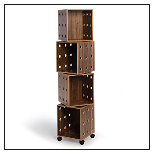 Stack Perf Boxes - OFFI Perf Boxes by Co, stack height = Four; finish = Walnut