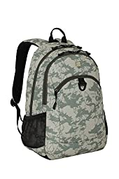 SwissGear SA6621 Light Green Camoflage Print Computer Backpack - Fits Most 15 Inch Laptops and Tablets