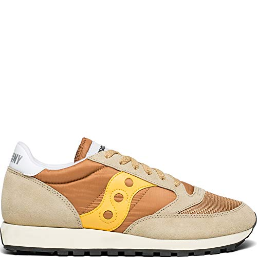 (Saucony Men''s Jazz Original Vintage Cross Trainers, Beige (Tan/Yellow 35), 7.5 UK 7.5 UK)