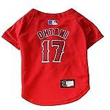 Cheap MLBPA Dog Jersey – SHOHEI OHTANI #17 Pet Jersey – MLB Los Angeles Angels Mesh Jersey, Small
