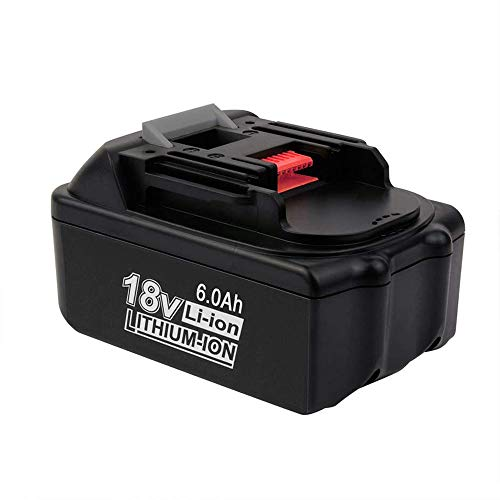 18V 6.0Ah BL1860 for Makita Replacement Battery, Lithium-ion Extended Battery for Makita BL1830 LXT-400 BL1840 BL1815 BL1835 BL1845 194204-5