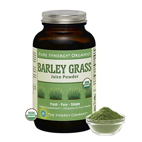 Pure Synergy Organics Barley Grass Juice Powder USA 5.3oz 100% Certified Organic by The Synergy Company Pure Juice