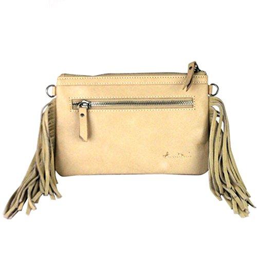 Purse Leather Light 5 w Fob Flash Handbag Key Rodeo Bundle of Tan Clutch Collection R5BWFcXc