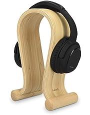 kalibri Kopfhörerhalter Kopfhörerständer Universal Holz - Koptelefoonhouder Koptelefoonhouder - Op oortelefoonhouder - Bamboehout in lichtbruin