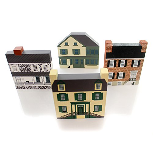 Cats Meow Village HAGERSTOWN SERIES Wood Set/4 Retired Hagerstown Series