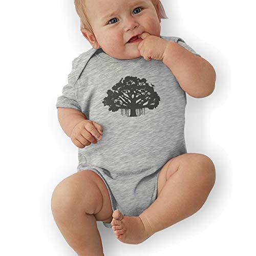 - HSWQNWVUHA Moreton Bay Fig Baby Crawling Suit Leotard 18M Gray