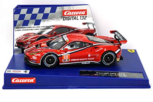 (Carrera 30809 Digital 132 Slot Car Racing Vehicle - Ferrari 488 GT3 Scuderia Corsa No.68 - (1:32 Scale))