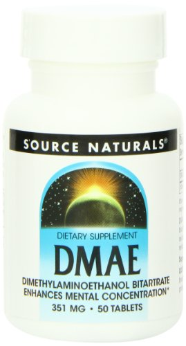 Dmae Dimethylaminoethanol 100 Tablets - Source Naturals DMAEDimethylaminoethanol Bitartrate 351mg Supplement - 50 Tablets