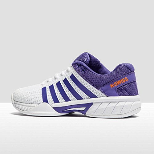 K-Swiss Performance Express Light, Zapatillas de Tenis para Mujer, Weiß / Lila Blanco (White/purple/orange)