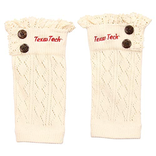 Tech Red Raiders College Watches - ZooZats NCAA Women's Knit Embroidered Boot Cuffs (Texas Tech Red Raiders)