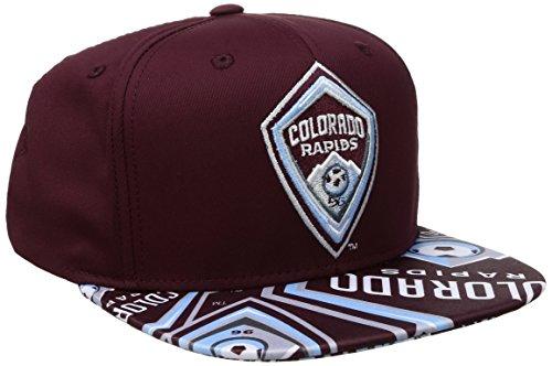 - MLS Colorado Rapids Adult Men MLS SP17 Fan Wear Script Logo Flat Brim Snapback,OSFM,Maroon