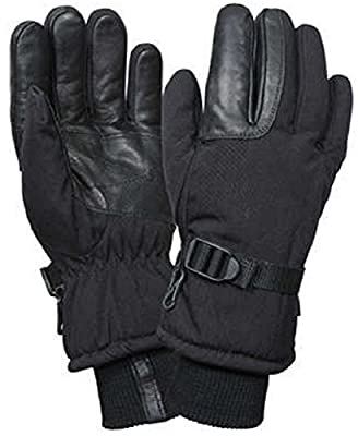 Insulated Gloves Black Waterproof & Insulated Long Cuffed Winter Gloves
