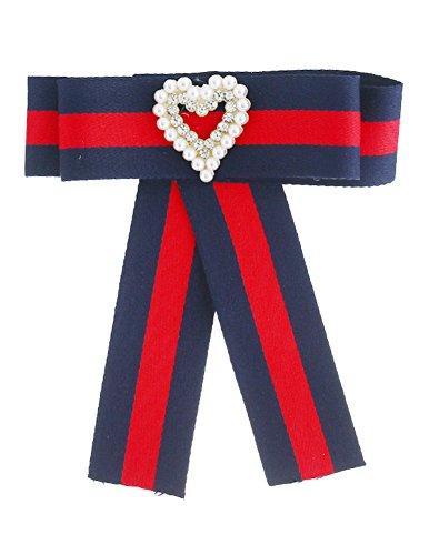 Women Adjustable Brooches Ribbon for Vintage Collar Shirt Dress KK939