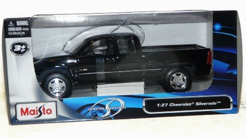 Maisto Chevrolet Silverado Special Edition Pickup Truck 1/27 Scale Diecast Model Vehicle Black (Chevy Silverado Model Truck)