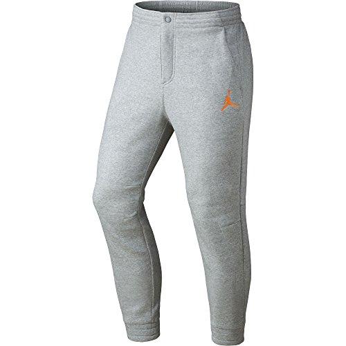 Nike Mens Jordan City Fleece Sweatpants Grey/Atomic Orange 814802-064 Size 2X-Large