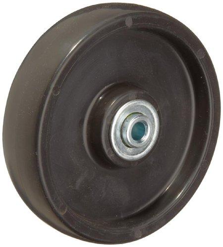 RWM Casters Polyolefin Wheel, Ball Bearing, 300 lbs Capacity, 5' Wheel Dia, 1-1/4' Wheel Width, 1-1/2' Plate Length