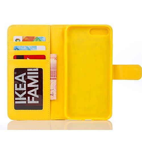 Voguecase® Pour Apple iPhone 7 4,7 Coque,[Zipper Wallet]Etui pratique et original en cuir synthétique, avec fermeture à aimant, housse de protection interne silicon antichoc de qualité, rabat porte ca