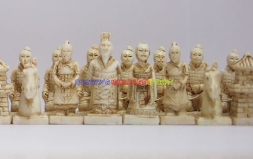 New Chinese Chess Set (Terracotta Warriors) 32 Pieces - Small Size (Chess Only) (Lewis Christmas Decorations 2017 John)
