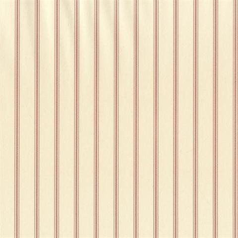 SY33932 Galerie Stripes 2 cream red narrow striped wallpaper