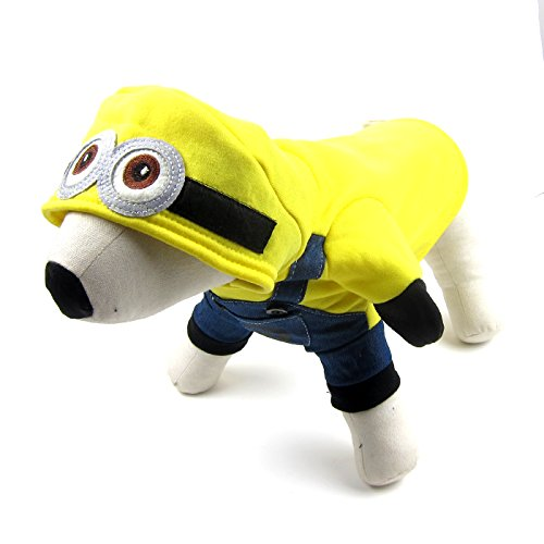 Alfie Pet by Petoga Couture - Wesley Minion Costume - Color: Yellow, Size: XS (Minion Cat Costume)
