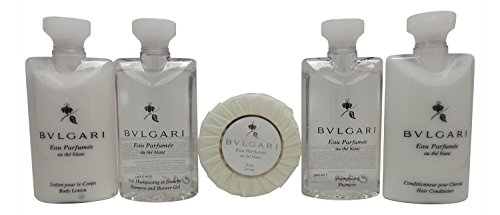 Bvlgari White Tea Au the Blanc Travel Set Shampoo, Conditioner, Lotion, Shower Gel, Soap - Blanc Set