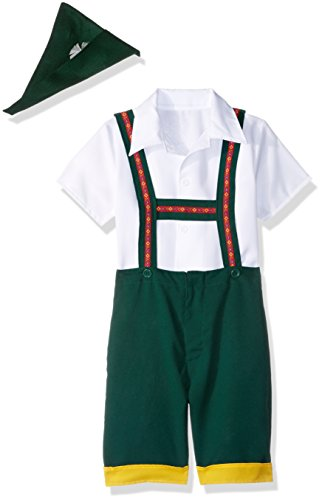 RG Costumes Bavarian Boy Costume, Green/Yellow/White,