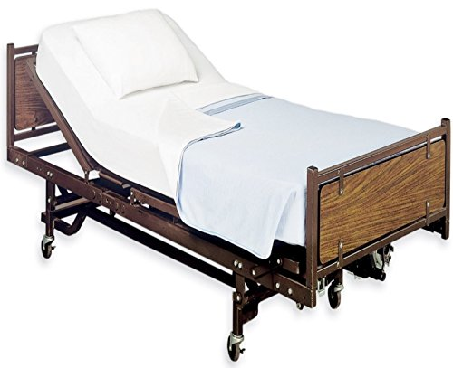 "White Classic Fitted Hospital Bed Sheets, Soft Knitted Jersey Knit Sheet, 36""x84""x16"""