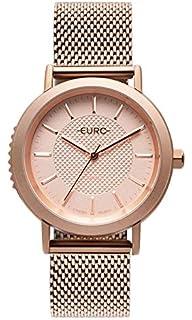3550463b67655 Relógio Feminino Euro Fashion Fit EUBJ3407AB 3P - Prata  Amazon.com ...