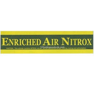 Trident Enriched Air Nitrox Pony Bottle Sticker