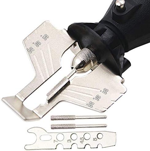 Juego de afilador de sierras el/éctricas afilador el/éctrico y accesorios de pulido juego de herramientas de cadena de sierra YOUCHOU