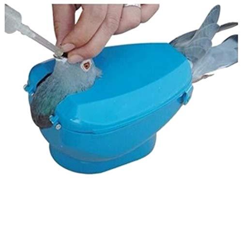 MANGO. Bird Feeding - Plastic Racing Pigeon Holder Easy Bird Fixed Frame Rack Medicine Feeder Light Blue - by GTIN - 1 Pcs - Sewit Bird Feeder - Box Bird Feeder