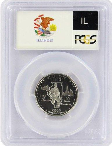2003 Illinois State S Clad Proof Quarter PR-69 PCGS