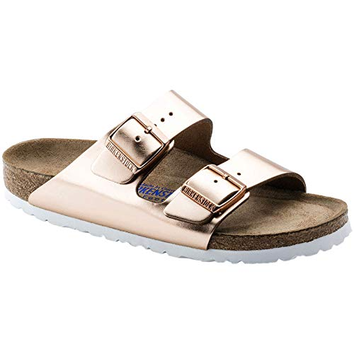 Birkenstock Arizona Soft Footbed Metallic Copper Womens Sandals Size 38 - Copper Outdoor Shoes
