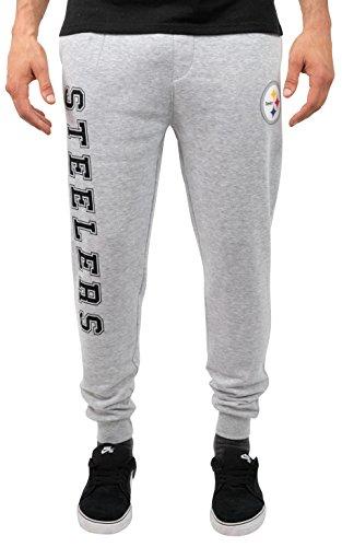 Pittsburgh Steelers Gridiron (NFL Men's Pittsburgh Steelers Jogger Pants Active Basic Fleece Sweatpants,   Heather Gray ,Medium)