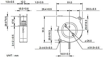 1pcs Mini Ventilador de refrigeración Partes de la Impresora 3D ...
