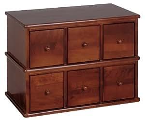 Amazon.com: Leslie Dame Wood CD, DVD Storage Cabinet 6 ...