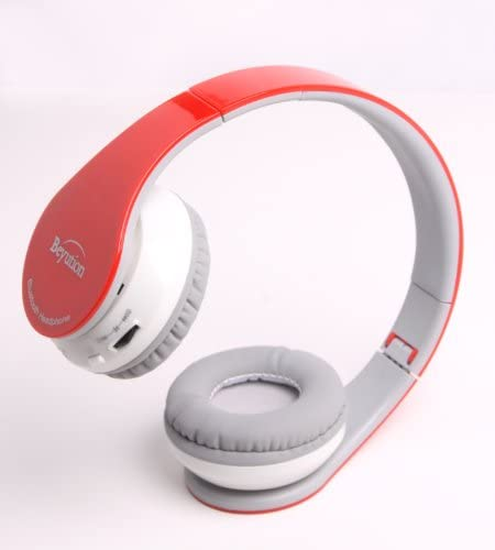 Beyution Brand Red Color Stereo Wireless Bluetooth Headphones Headset-for All Tablet MID, Smart Cell Phone and All Bluetooth Device