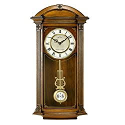Bulova C4331 Hartwick Old World Clock, Walnut Finish
