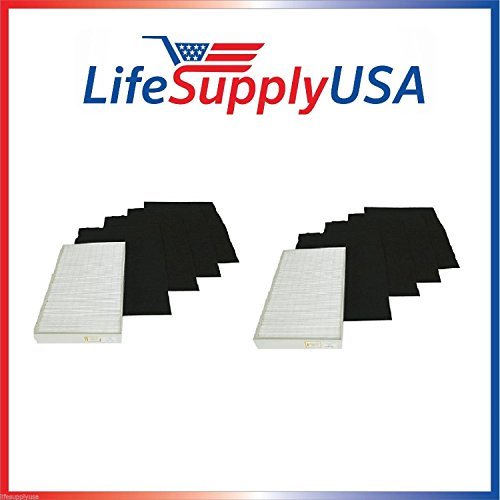 2 Complete True HEPA Filter SETS includes 2 HEPA + 8 Carbon Pre-Filters fit Whirlpool Whipure Air Purifier AP150 AP250 Sears Kenmore 83353, 83374 83234 SMALL 1183051 k 817433 k By LifeSupplyUSA