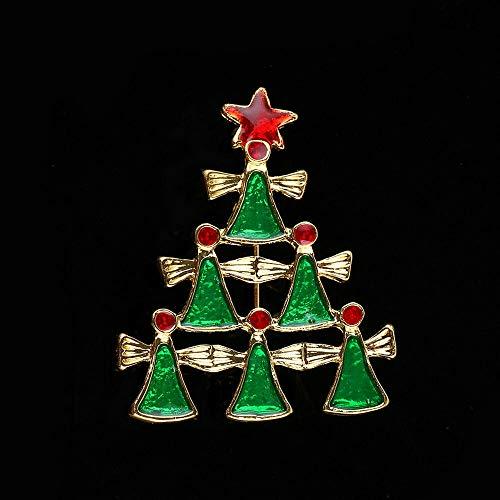 - Fashion Rhinestone Brooch Pin Christmas Tree Santa Claus Snowman Women Jewelry | Patterns - 4# Bells Tree
