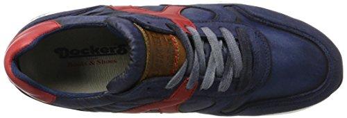 Dockers by Gerli Herren 40br001-207667 Sneaker Blau (navy/rot)