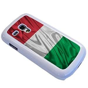 White Frame Italian Flag Design-Samsung Galaxy S3 mini i8190 Case/Back cover Metal and Hard Plastic case by ruishername