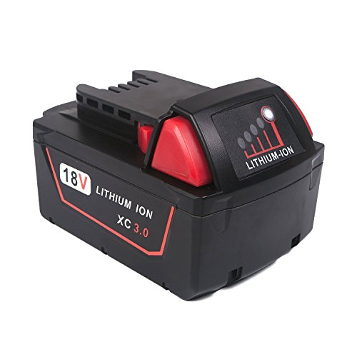 JJYDCGJ 18V 5.0Ah M18 Replacement Red Lithium Battery for Milwaukee M18 M18B 48-11-1820 48-11-1850 48-11-1828,Compatible with All M18 Tools & Chargers, with Fuel Gauge
