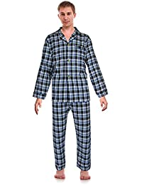 classical sleepwear mens 100 cotton flannel pajama set robes king
