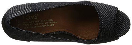 Wedge Black Denim Womens Stella TOMS 1EwAq4WP0n