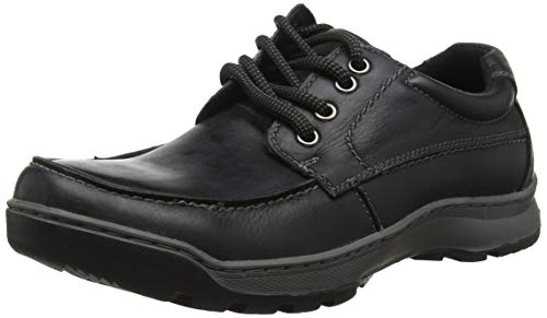 Hush Puppies Tucker Lace Up Mens Leather Material Casual Shoes Black