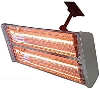 電気ヒーター、2000W 多機能 防水テラスヒーター、2つのレベルの調節可能ヒーター 屋外または屋内用