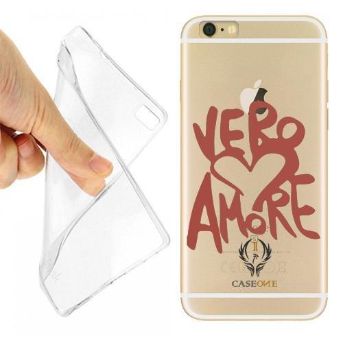 Caseone linea top CUSTODIA COVER CASE VERO AMORE PER IPHONE 6 TRASPARENTE